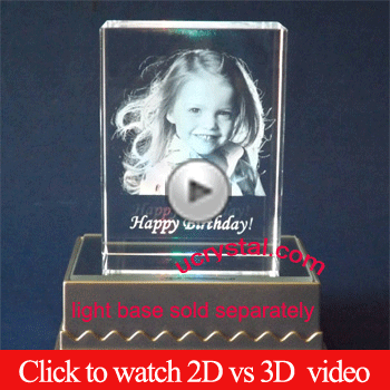 2d 3d photo crystal engrving sample video