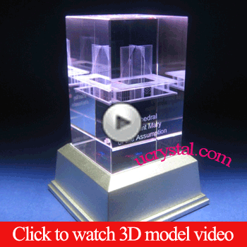 3d photo crystal sample video
