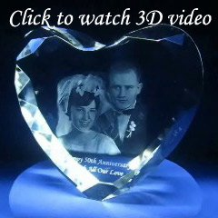 3D photo crystal heart video