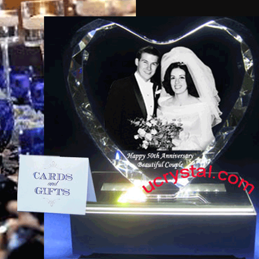 3d photo crystal heart