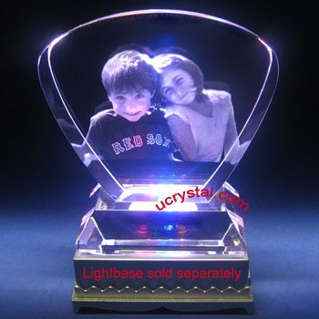 Fan-shape laser photo crystal with base