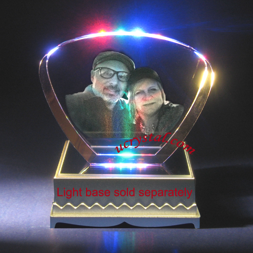 Fan shape custom engraved crystal awards