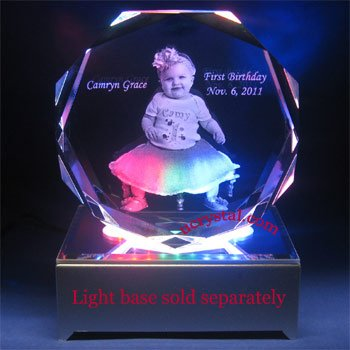 Octagonal laser photo crystal