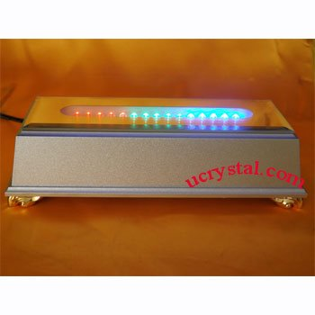LED Lighted bases for crystal display- 15 LED, multi-color rectangular
