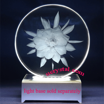 Round laser photo crystal engraving - XL