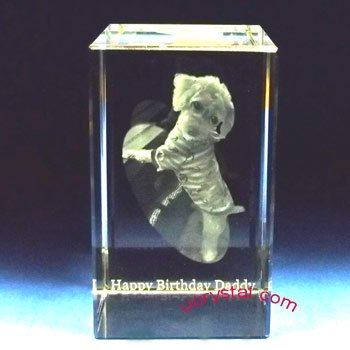 3d photo crystal cube, rectangular prism