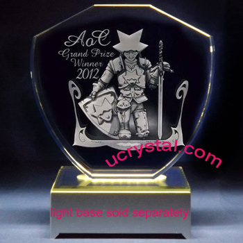 Great firewall custom engraved crystal awards, extra large