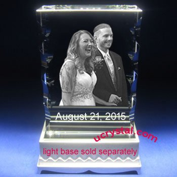 3D photo crystal halfmoon rectangular