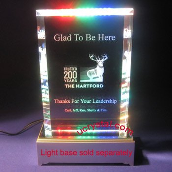 Inspiration crystal plate plaque awards extra large