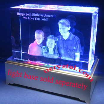 3D photo crystal, 3D crystal block 2