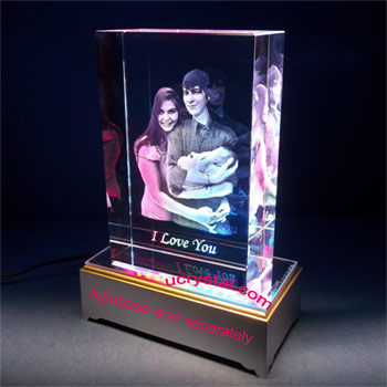 3D photo crystal, 3D crystal block XL 2