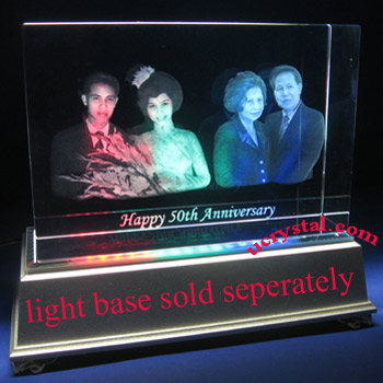 3D laser photo crystal, 3D crystal block XL 3