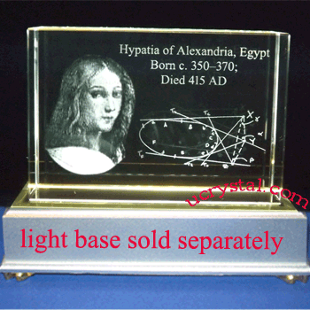 laser etched 3D crystal awards block extra large 2