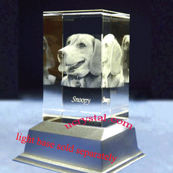 3d photo crystal cube, rectangular 2