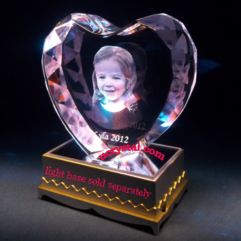 3D laser photo heart crystal wedding anniversary 4