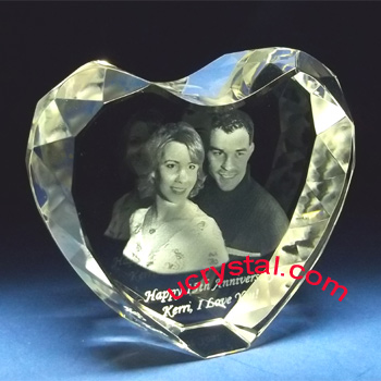 3D diamond photo crystal heart for wedding anniversary XL 4