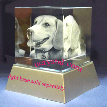 3d laser etched crystal cube large 2