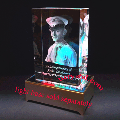 laser etched 3D photo crystal cube, 3D photo crystal cube large 4