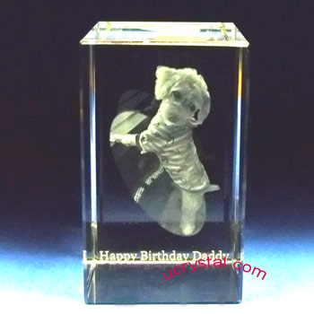 3d photo crystal cube, rectangular 4