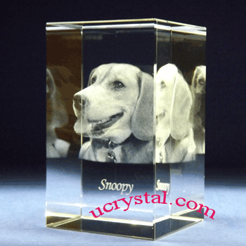 3d photo crystal cube, rectangular 5
