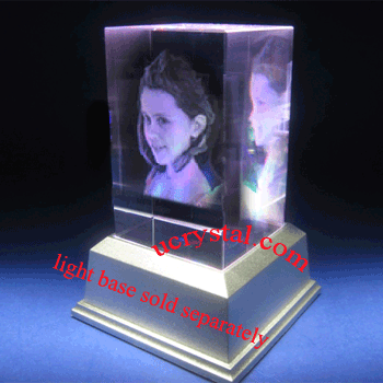 3d photo crystal cube, rectangular 1