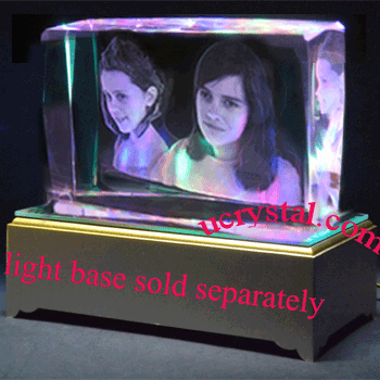 3D laser photo crystal - rectangular T3210-2