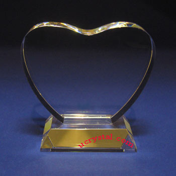 heart laser photo crystal wedding anniversary gift--B2145-2