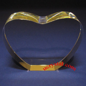 heart 3d photo crystal wedding anniversary N2145-2