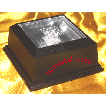 4 led light base for crystals, multi-color lights, square 3