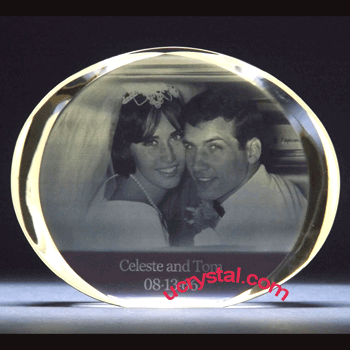 oval 3d photo crystal XL 3
