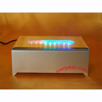 9 led light base for crystals, multi-color, rectangular