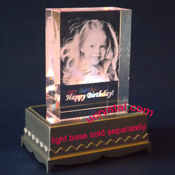 Rectangular custom photo crystal T3220-3