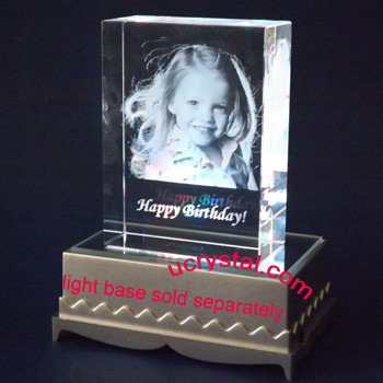 Rectangular personalized photo crystal T3220-4