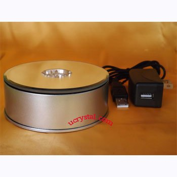 Rotary light bases for 3D crystal display TT74-1