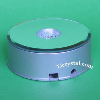 7 led rotary light base for crystals, multi-color lights