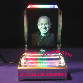 Rectangular 3d laser photo crystal engraving - B2180-2