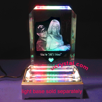 3d laser photo crystal engraving B2180-3