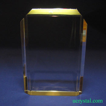laser crystal engraving , rectangular crystal 3
