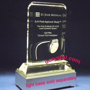custom crystal plaques engraved rectangular 2
