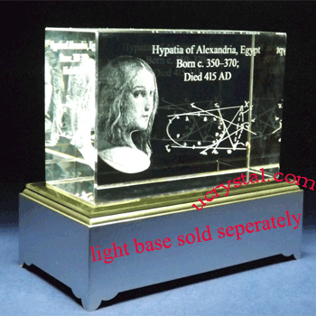 custom laser etched 3D crystal awards block 1