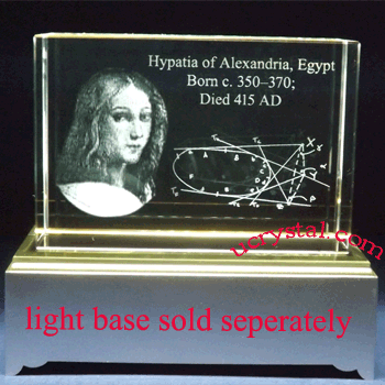 custom laser etched 3D crystal awards block 2
