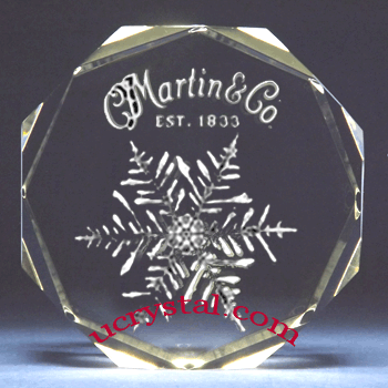 custom engraved crystal awards Octagon 2
