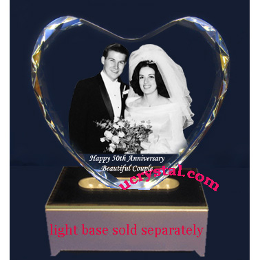 3d photo crystal heart XL N2950-2
