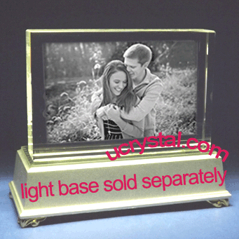 rectangular photo crystal extra large